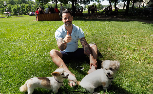 AndyWithDogs